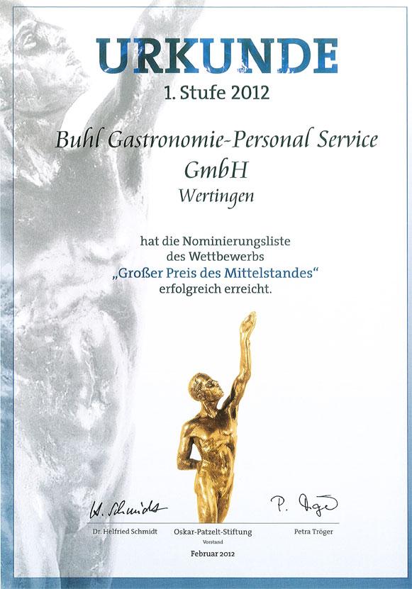 Urkunde BUHL GPS Wertingen