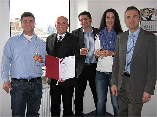 Rahmin Shirzadi, Enrico Meyer, Andreas Sievers, Stefanie Böving und Hubertus Hohlfeld