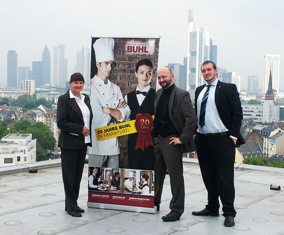 Unser Team aus Frankfurt. V. l. n. r.: Christina Segeth, Claus Melcher und Christian Förster