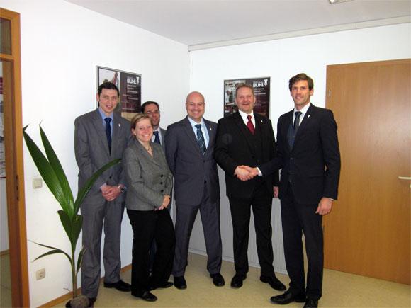Jan Hartmann, Anja Drefahl, Jens Lange, Fred Herrmann, Marc Ebert und Martin Öhlhorn