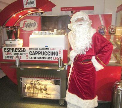 Weihnachtsmann Segafredo