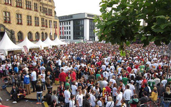 Public Viewing im Ruhrgebiet