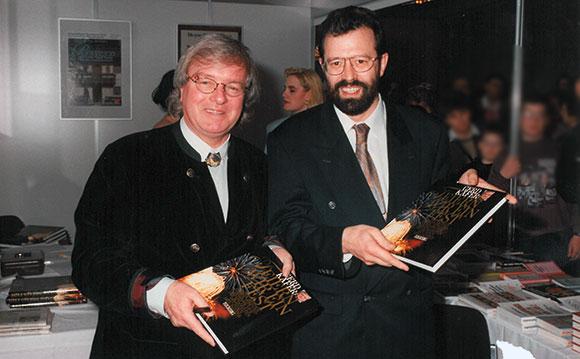 Gerd Käfer (†) bei der Präsentation seines Buches auf der Kulinaris in Augsburg zusammen mit Hermann Buhl