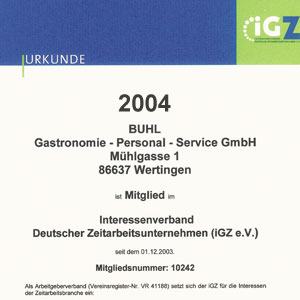 BUHL Gastronomie Personal Service