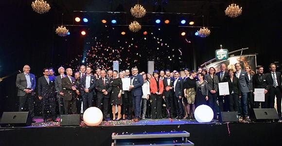 Sonderpreis-Gewinner Heiko Antoniewicz und Gastronomiepreis-Erfinder Gerhard Besler. Das große Finale der Preisverleihung