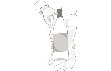 Serviceschulung, Flasche richtig halten