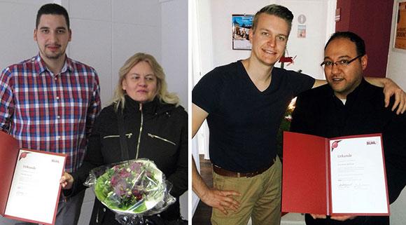 Jubilare Esra Durmaz und Ayman Al-Hitreya