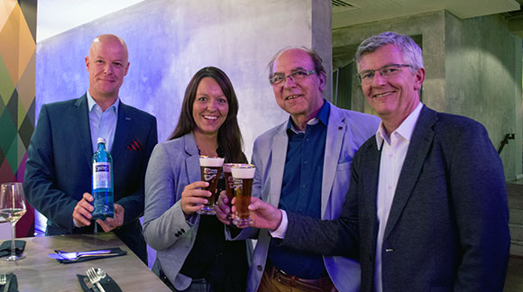 Ingolf Sperling (Selters), Sarah Schwefer (Radeberger Gruppe), Gerhard Besler (Westfalen Institut) und Andreas Thielemann (Radeberger Gruppe)