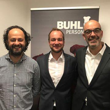 Eren Barlik (Regionalleiter), Mario Sander (Niederlassungsleiter Köln-Leverkusen) und Matthias Recknagel (Geschäftsführer)