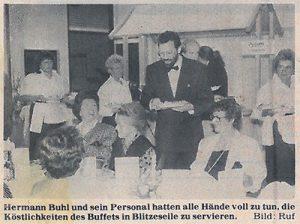 Zeitungsauschnitt Der Wertinger Zeitung. Hermann Buhl in Aktion – gefragter Einsatzleiter bei Käfer, Lufthansa, Maritim u.a.