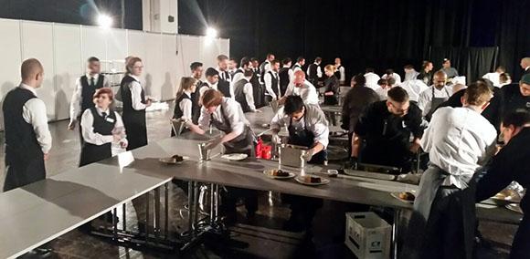 Vorbereitungen Buffet