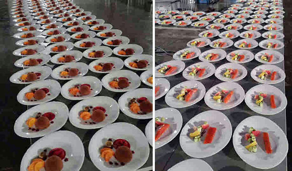 Viele Dessertteller