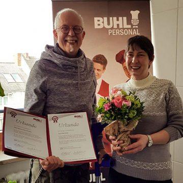 Gemeinsam 10 jahre BUHL: Dietmar Wirtz und Petra Eckel