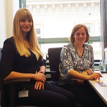 Frau Vanessa Konik aus Bonn verbrachte zur Einarbeitung und zum gegenseitigen Kennenlernen 3 Tage in der ZV in Augsburg
