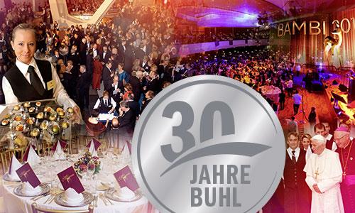 Collage verschiedener Veranstaltungen mit BUHL-Personal anlässlich des 30-jährigen Firmen-Jubiläums