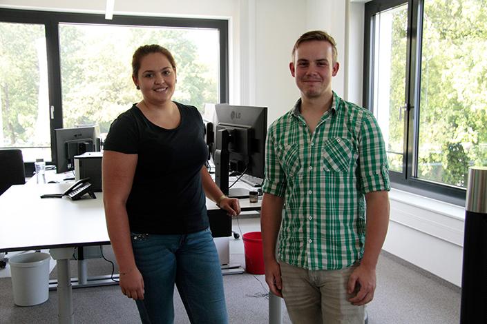 Vivien Wamers aus Duisburg und Tobias Menkel aus Essen lernen den Zukunftsberuf Personaldienstleistungskaufmann bzw. -frau