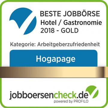 HOGAPAGE Beste Jobbörse Hotel / Gastronomie 2018 - Gold