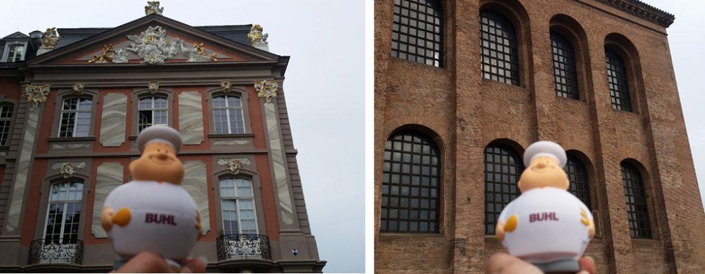 Bert vor dem kurfürstlichen Palais und vor der Konstantinbasilika