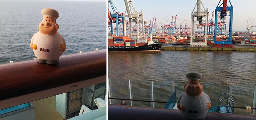 Bert am Hafen in Rotterdam