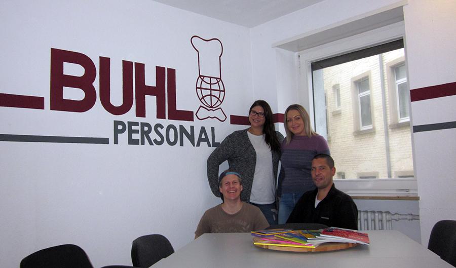Andreas Fritz (Regionalleiter), Nadine Lutz (Fachbereichsleiterin Service), Maria Doberstein (Teamassistentin), Jens Simmendinger (Niederlassungsleiter)