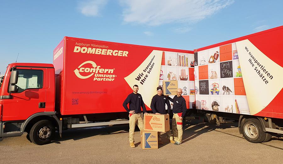 Seit 1897 steht die Augsburger Unternehmensgruppe Domberger für professionelle und individuelle Dienstleistungen in den Bereichen Reisen, Umzüge und Logistik.
