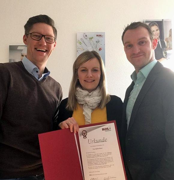 Sabine Braun aus Dresden feiert ihr 5-jähriges BUHL-Jubiläum.
