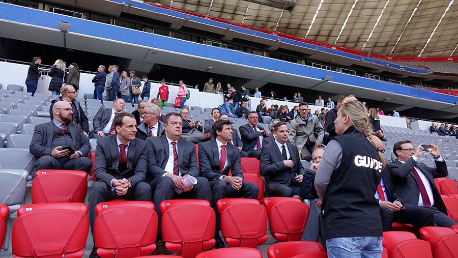 Auch die Nicht-Fußballfans begeisterte der Blick hinter die Kulissen eines der modernsten Stadien Europas.