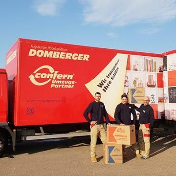 Doch zum Glück gibt es für Firmenumzüge das Unternehmen Domberger.