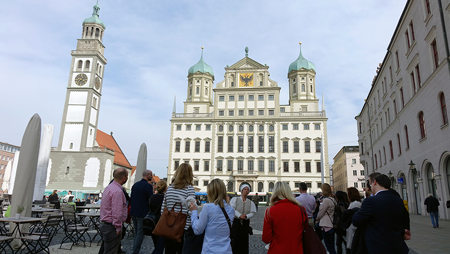 Auch die Besichtigung der Augsburger Innenstadt stand auf dem Programm.