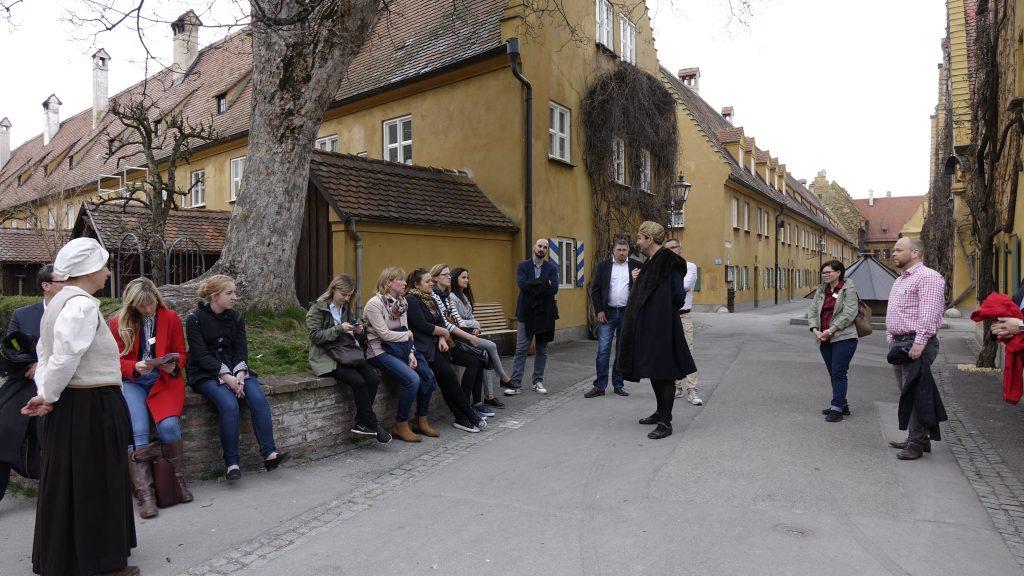 Spannendes gab es in der Augsburger Fuggerei von 1524 zu entdecken.
