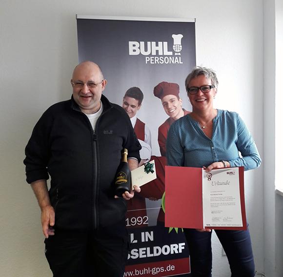 5 Jahre bei BUHL: Manfred Ferlings aus Düsseldorf