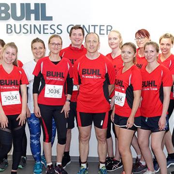 14 Mitarbeiter der BUHL-Zentralverwaltung in Augsburg starteten beim M-net Firmenlauf 2019