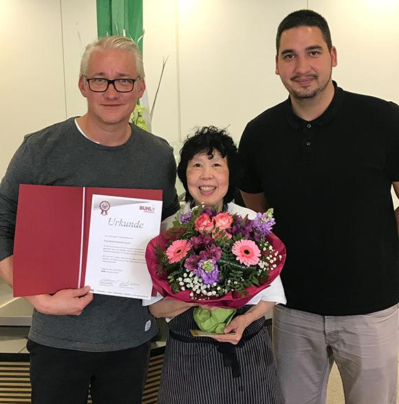 Seit 15 Jahren arbeitet Frau Tolomeo für BUHLin Düsseldorf