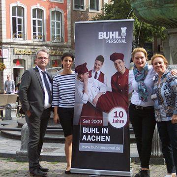 Derzeit arbeiten hier über 100 Mitarbeiter in den Bereichen Service und Küche für BUHL in Aachen.