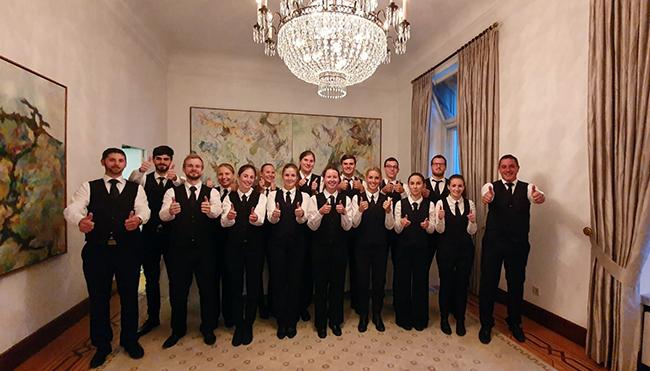 So einen Einsatz gibt es nicht alle Tage im zweiten Wohnsitz des Bundespräsidenten in Bonn.