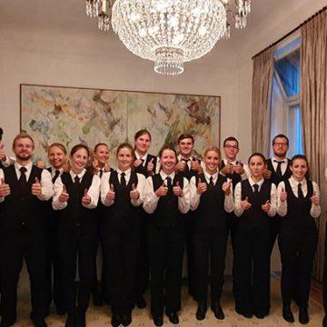 18 BUHL-Mitarbeiter waren in der Villa Hammerschmidt beim Bundespräsidenten im Einsatz.