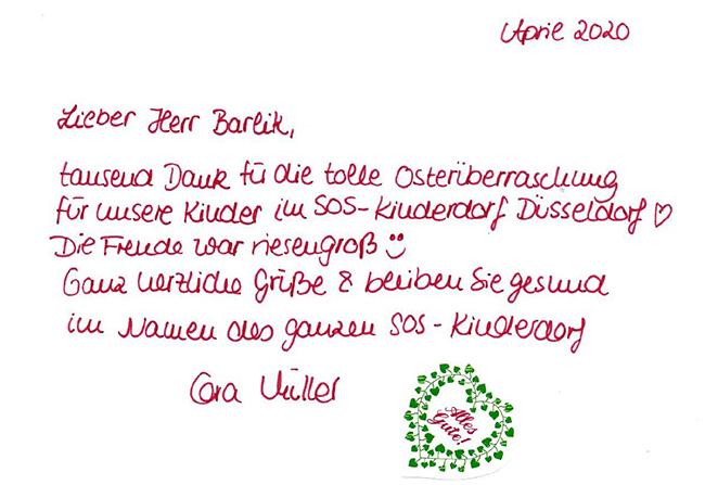 Eine tolle Idee: Spende der BUHL-Niederlassung Köln an das SOS Kinderdorf in Düsseldorf