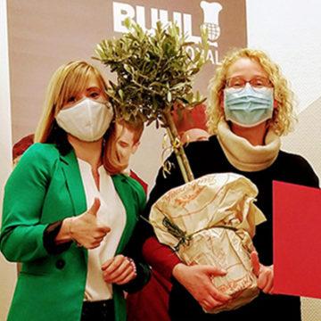 Auch in Hannover freut man sich über das 10-jährige Betriebsjubiläum von Frau Gerling.